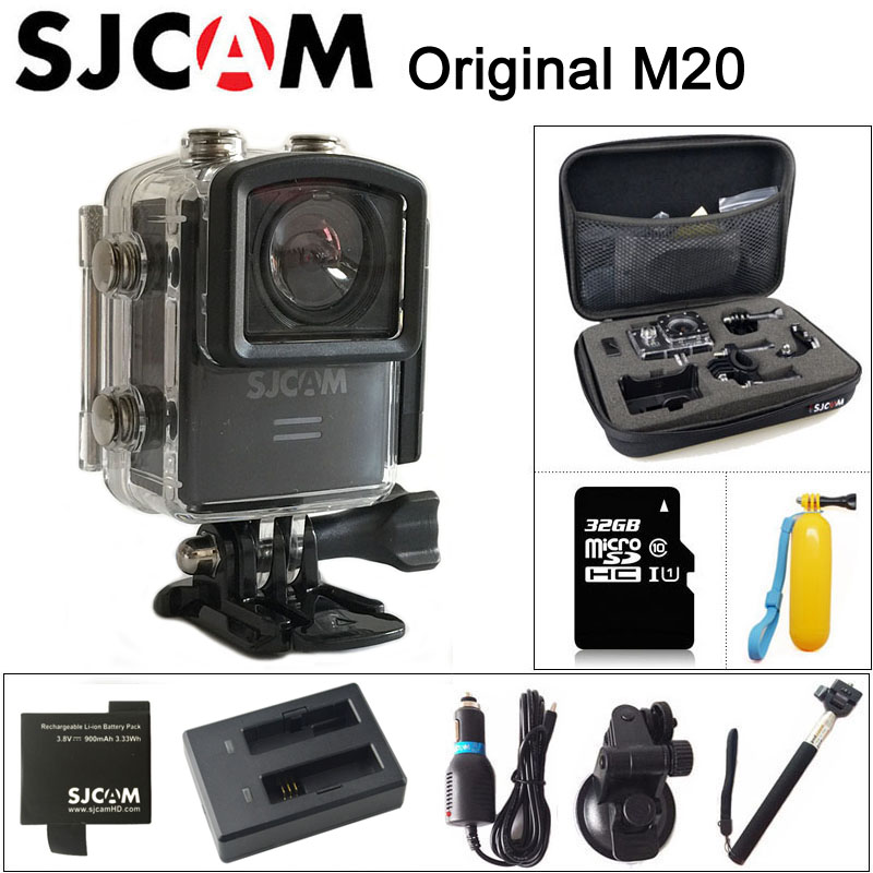 Original SJCAM M20 Sport Action Camera 4K Wifi SJ Cam Underwater Gyro Mini Camcorder 2160P HD 16MP With RAW Format Waterproof DV wzsm new dc power jack socket for asus vivobook zenbook ux32a q200e x202e s200e s400ca ux31a ux31 ux32vd x201e s201e s202e