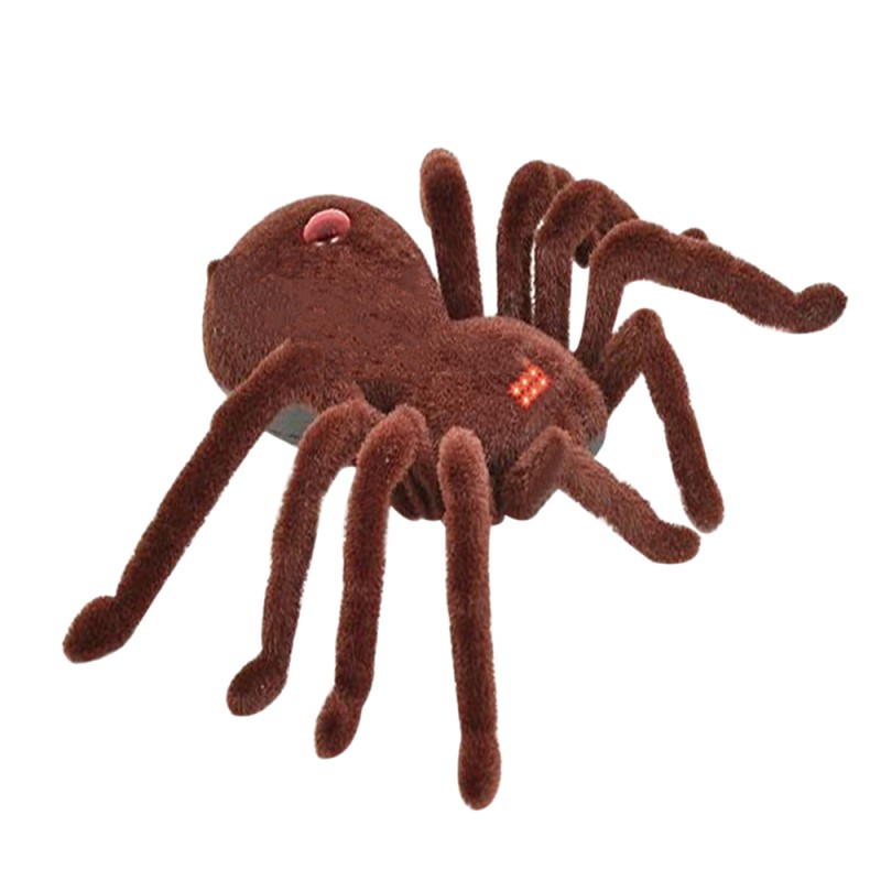 Infrared Remote Control Scary Creepy Plush Spider Tarantula Prank Toy Kid Gift  infrared remote control tarantula with light trick toy