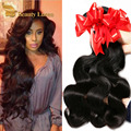 Brasileira onda do corpo do cabelo virgem 6 pacotes lida onda do corpo Brasileiro na venda de 100% cabelo encaracolado extensões de cabelo humano atacado