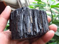350g natural preto turmalina pedra de cristal original