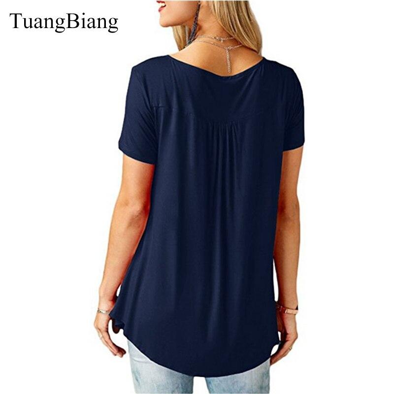 TuangBiang 2018 Women Summer V Neck Short Sleeve T shirt Loose Sexy camiseta feminina T Shirts