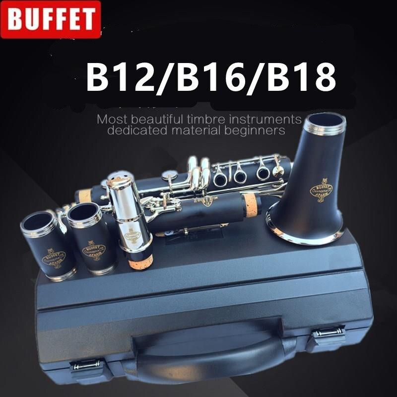 Top Nouveau JUPITER JCL-637N B-plat Tune Professionnel qualité supérieure À Vent Instruments Clarinette Noir tube Avec Cas Accessoires