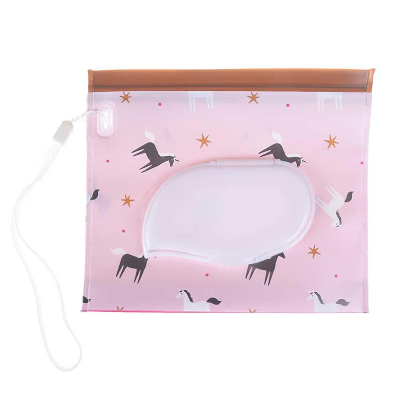 في الهواء الطلق السفر الطفل الوليد الاطفال مسح حالة مربع الرطب مناديل صندوق توزيع حقيبة صديقة للبيئة الرطب ورقة منشفة مربع Chaning و سادة