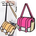2016 new 2D style women's shoulder bag for teenager girls women's school bag bolsa feminina designer shoulder bag high quality