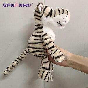 Image 4 - 5 יח\חבילה 25cm kawaii יער בעלי החיים סדרת בפלאש צעצוע חמוד ג ירפה פיל האריה קוף זברה בובות ממולא צעצועים רכים עבור ילדים