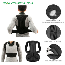 Unisex Adjustable posture Corrector Shoulder Back Brace Support Pain Relief Lumbar Spine Support Belt Posture Correction
