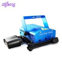 Xtf2015 оптовая продажа синий лазерный мини Stage Xmas проектор диско DJ Light Party Освещение show WTD-синий