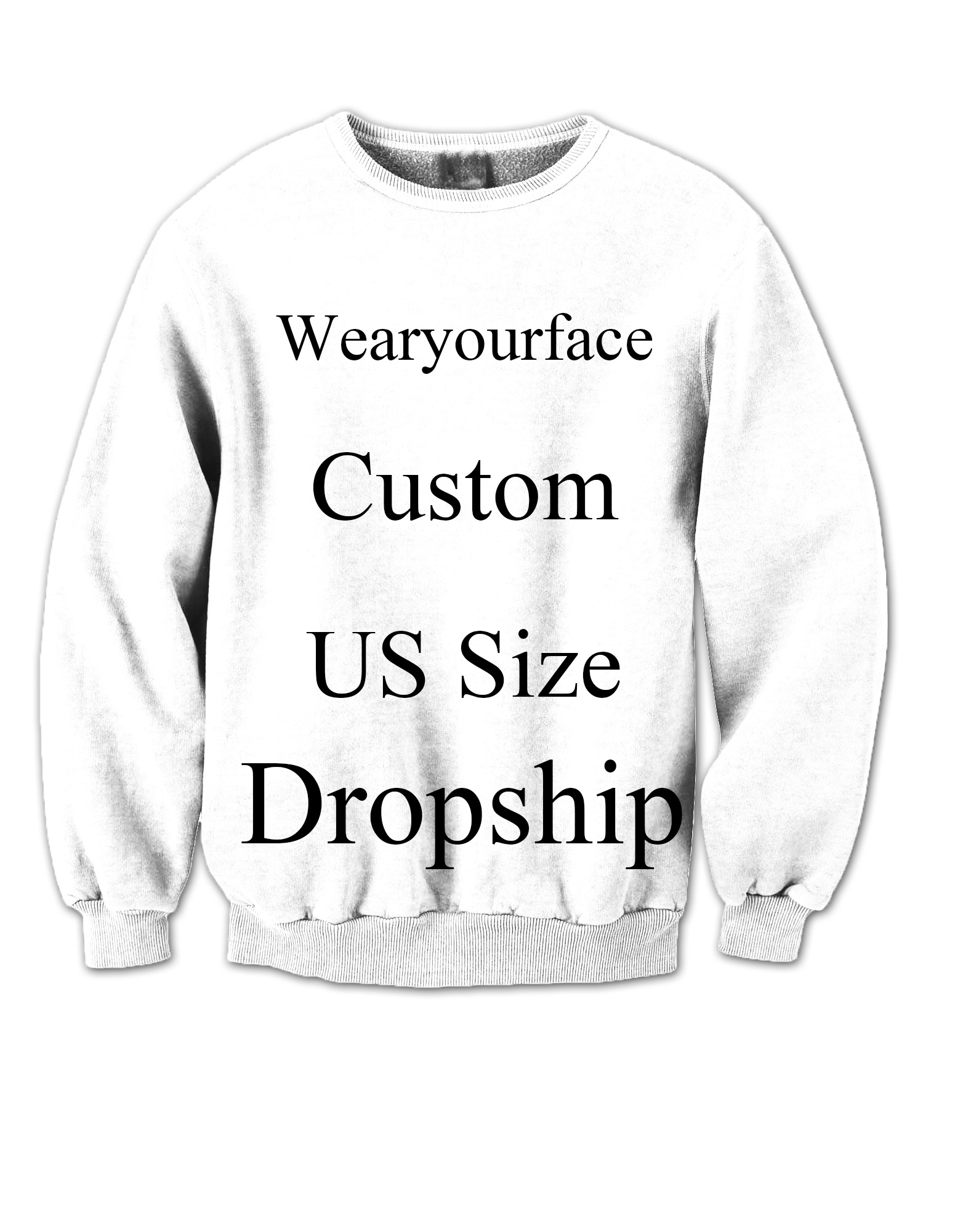 35554b3d9bd6 Custom Dropship US Size 3D All Over Printed Crewneck Sweatshirts Tracksuits Streetwear  Outfits Sweats For Kid Women Men Sets