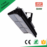 IP65 Cree LED Floodlights 100W 200W 300W 500W Adjustable LED Tunnel Light AC85 277V Meanwell Driver