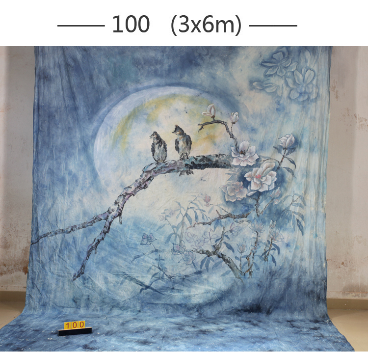 2017 10*20ft Hand Painted cloth photography background wedding,toile de fond studio photo100,muslin scenic birds photo backdrops 3m 6m hand painted muslin scenic backdrop fc023 toile de fond studio photo photo studio props baby photography studio backdrop