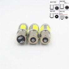 Белый 1156 BA15S P21W COB 7,5 W резервного копирования/Обратный светодиодный противотуманный сигнал сигнальная Поворотная лампа светильник BAU15S PY21W 1157 BAY15D P21/5 Вт