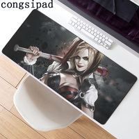 400X900cm Large Gaming DIY Design Pattern Computer Mousepad Gaming Mouse Pad For Harley Quinn Margot Robbie