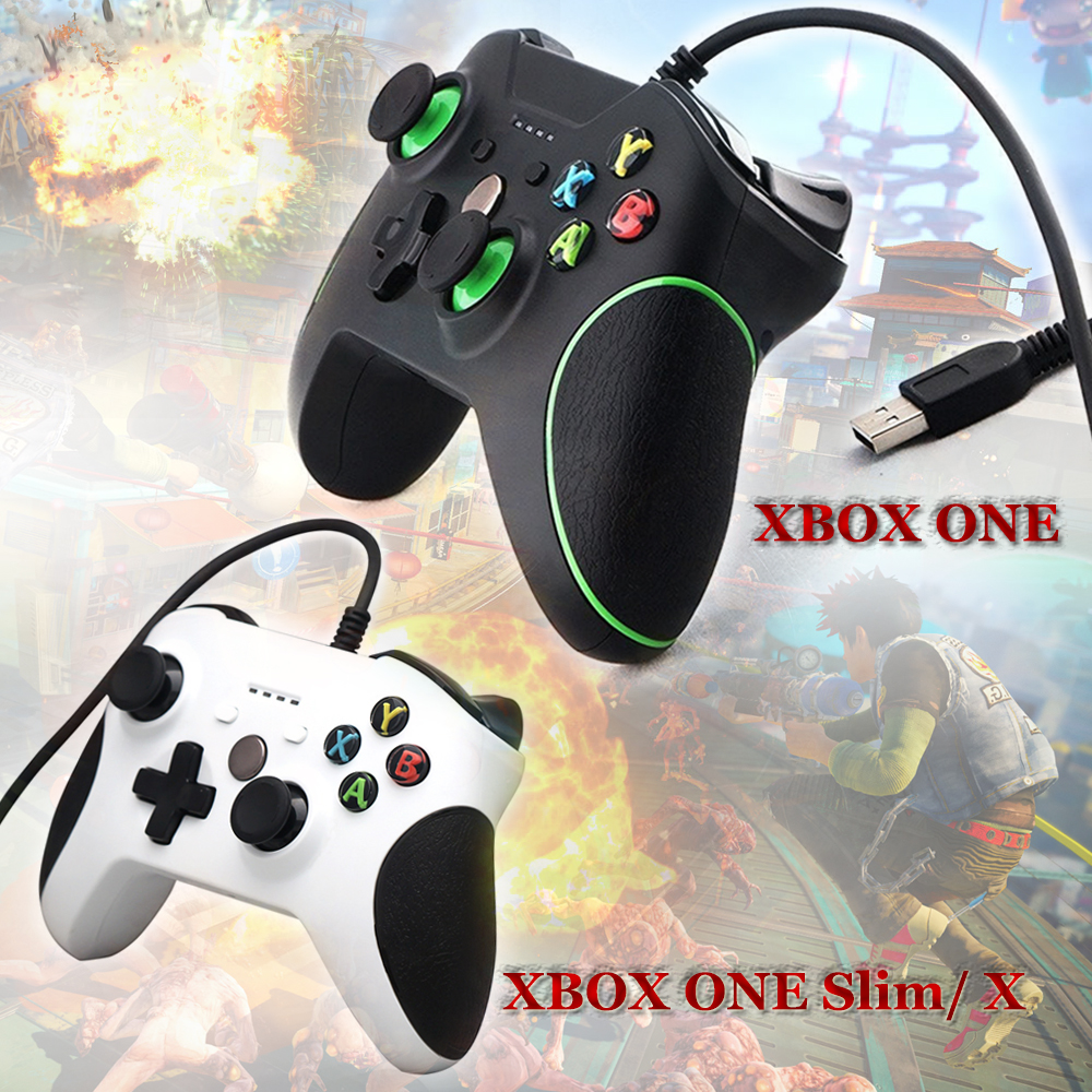 цена на USB Wired Gamepad Joystick Joypad Handle for Microsoft xbox one/ Windows PC/ XBOXONE SLIM X XBOXONE S With 3.5MM Headset Jack
