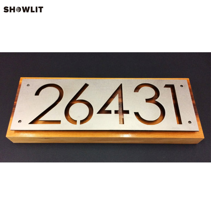 Laser Cut House Number Plate In AluminumLaser Cut House Number Plate In Aluminum