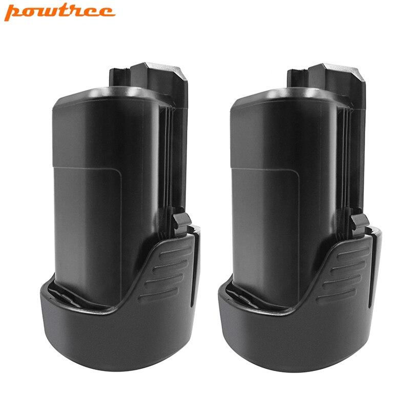 Powtree 12 V Para Bosch BAT411 2 PACK 2000 mAh Bateria Recarregável de Substituição BAT412A BAT413A D-70745 GOP 2607336013 PS20-2 PS40-2