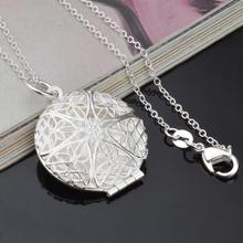Silver-Color Fashion jewelry vintage carved Pocket watch pendant necklace Necklaces & Pendants antique Silver-Color