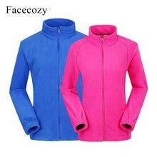 Facecozy 2019 Men Women Outdoor Fishing Fleece Jackets Sport