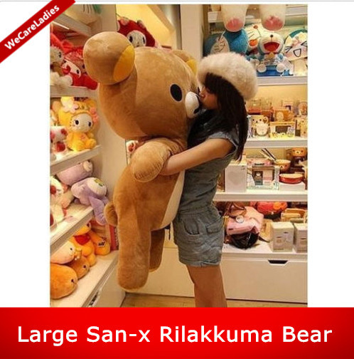 Cute Kawaii Big Huge Giant 80cm/31Inch Stuffed Plush Soft Bear Toy Animal Doll Pillow brown 100% Cotton lover gift 2018 huge giant plush bed kawaii bear pillow stuffed monkey frog toys frog peluche gigante peluches de animales gigantes 50t0424
