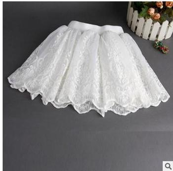 2018 Girls summer lace princess skirts , girl tutu , children skirt , 5pcs/lot  LSQ01