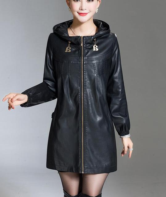 Plus Size XL 2XL 3XL 4XL 5XL Leather Jacket Women Leather Coat Long spring Winter Casual Fashion Ladies Jackets And Coats 2