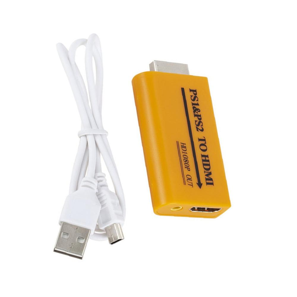 Adapter Tablets PC Smart Phone Hub 1080P <font><b>HDMI</b></font> Adapter Computers Desktop <font><b>PS</b></font> To <font><b>HDMI</b></font> Game Machine Laptop For PS1 PS2 image
