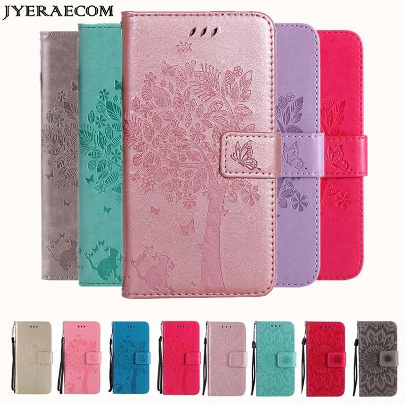 JYERAECOM Retro PU Leather <font><b>Flip</b></font> Wallet Cover <font><b>Case</b></font> For <font><b>Huawei</b></font> Y5 <font><b>2018</b></font> Y6 P8 P9 lite mini 2017 P10 P20 Lite <font><b>P</b></font> <font><b>smart</b></font> plus <font><b>Case</b></font> image