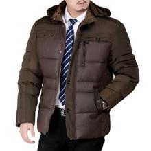 Бесплатная доставка 2016 новый Зимы Mens с капюшоном теплый пуховик водонепроницаемый куртки мужчины одежда MA242