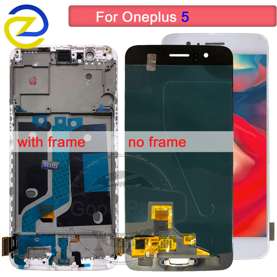 5.5Oneplus 5 LCD Display Screen Touch Panel Complete Assembly 100% Tested Oneplus 5 A5000 Five LCD Digitizer Display+ Frame5.5Oneplus 5 LCD Display Screen Touch Panel Complete Assembly 100% Tested Oneplus 5 A5000 Five LCD Digitizer Display+ Frame