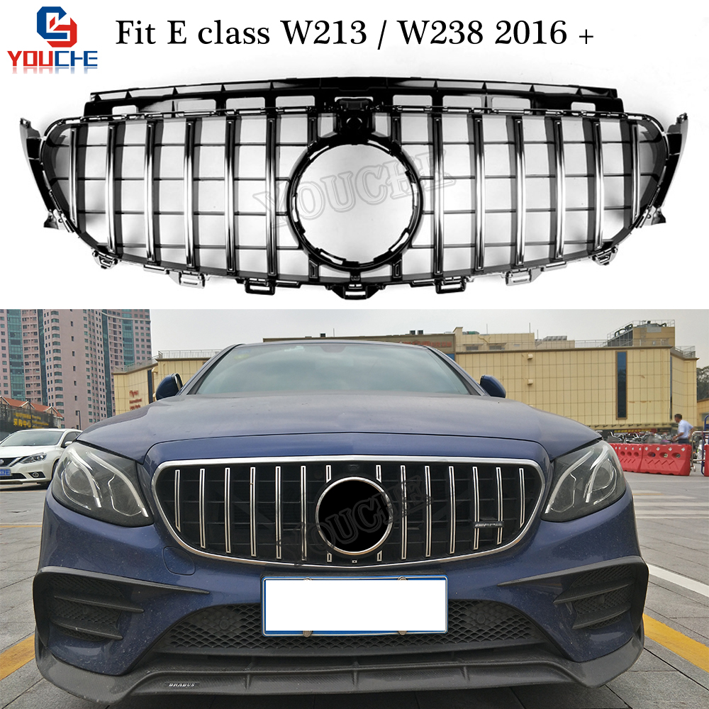 W213 W238 GT R Style Front Bumper Grills Replacement Grille for Mercedes W213 E Sedan C238