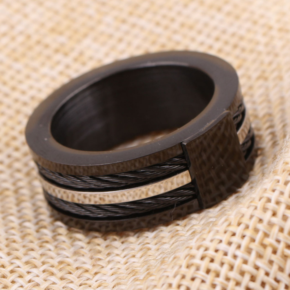 Black Male Unique Ring Wedding Band Tungsten Carbide Ring 12.5mm Man Anniversary Jewelry Size 9# 10# 11# 12# 5