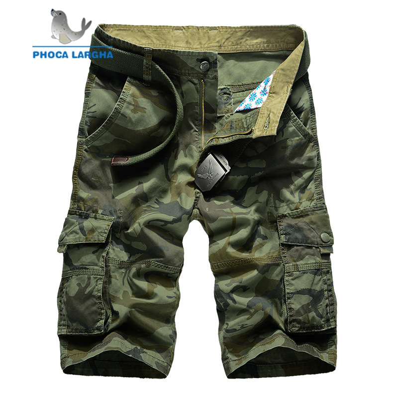 Camouflage Camo Cargo Shorts Men 2019 New Mens Casual Shorts Male Pocket Loose Shorts Man Military Short Pants Plus Size 29-44