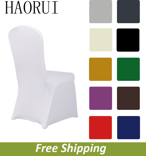linen chair covers dining room best back massager for 50pcs white spandex seat cloth wedding christmas party decoration free shipping haorui