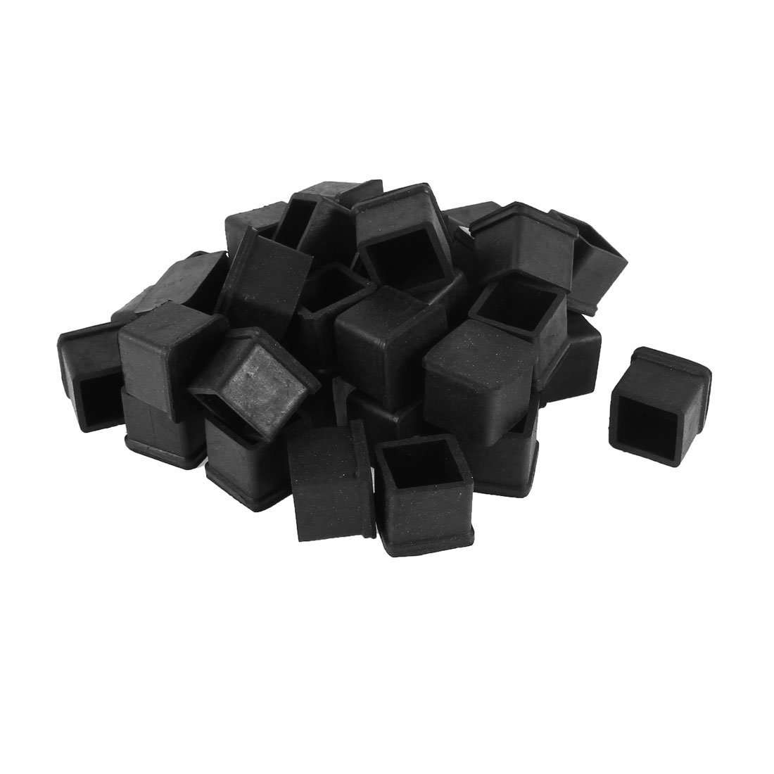 SZS Hot 40 Pcs Rubber Chair Table Foot Cover Furniture Leg Protectors 20x20mmSZS Hot 40 Pcs Rubber Chair Table Foot Cover Furniture Leg Protectors 20x20mm