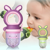 Silicone Baby Pacifier Feed Boys & Girls Nibbler Tools Kids Feeding Soother Nipple Feeder Tool Nibbler green and Purple
