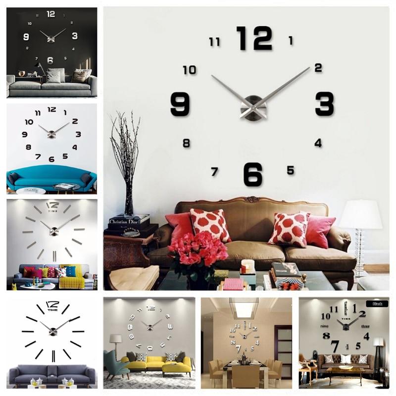 040c4d74b ... جديد DIY 3d الرئيسية الديكور ساعة حائط كبيرة مرآة ساعة حائط الحديثة  تصميم ، كبير حجم ساعة حائط s. DIY الجدار ملصق فريد هديةلنا $13.59 /قطعة ...