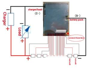 Image 5 - גרסת S lipo ליתיום פולימר 16 S 60A BMS/PCM/PCB לוח הגנת סוללה עבור 16 חבילות 18650 תא סוללה ליתיום נטענת w/איזון