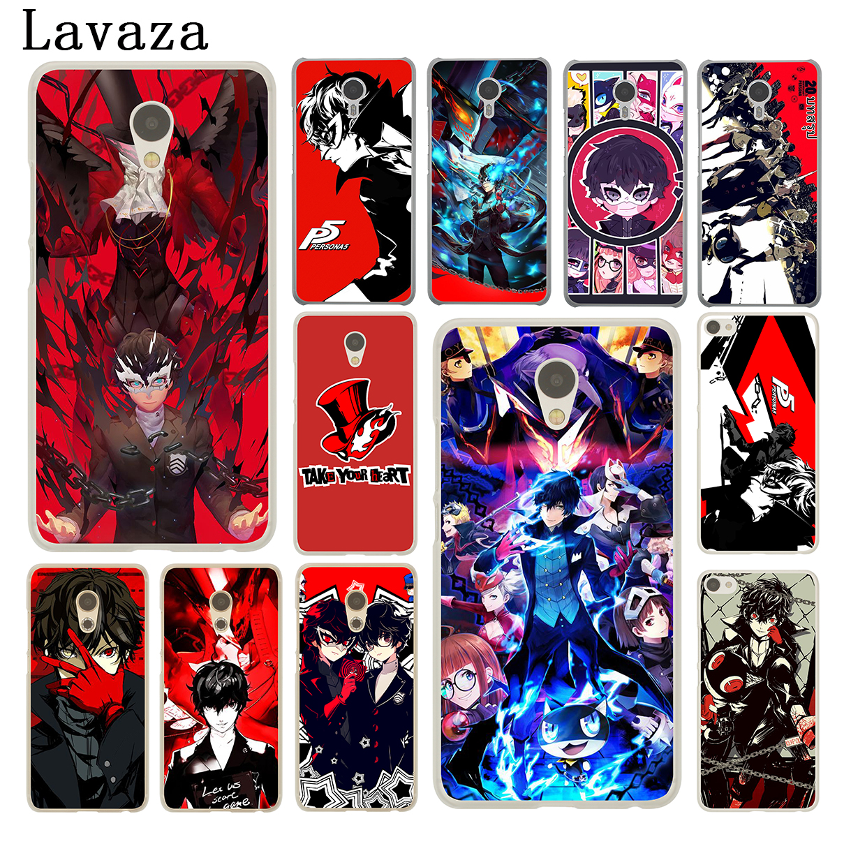 Lavaza p5 P Persona 5 Hard Phone Shell Case for Meizu M5C M6 M5 M5S M2 M3 M3S Mini Note U10 U20 Pro 7 Plus 6 Cover ...