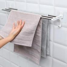 Новинка, двойной хромированный настенный держатель для полотенец для ванной комнаты, полка для хранения
