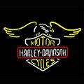 Motor Cycles HARLEY DAVIDSON Sinal de Néon Neon Lâmpada Recreação Garagem Presentes Arte Vidro Real Artesanato Exposição Da Loja VD24X20 Guarante