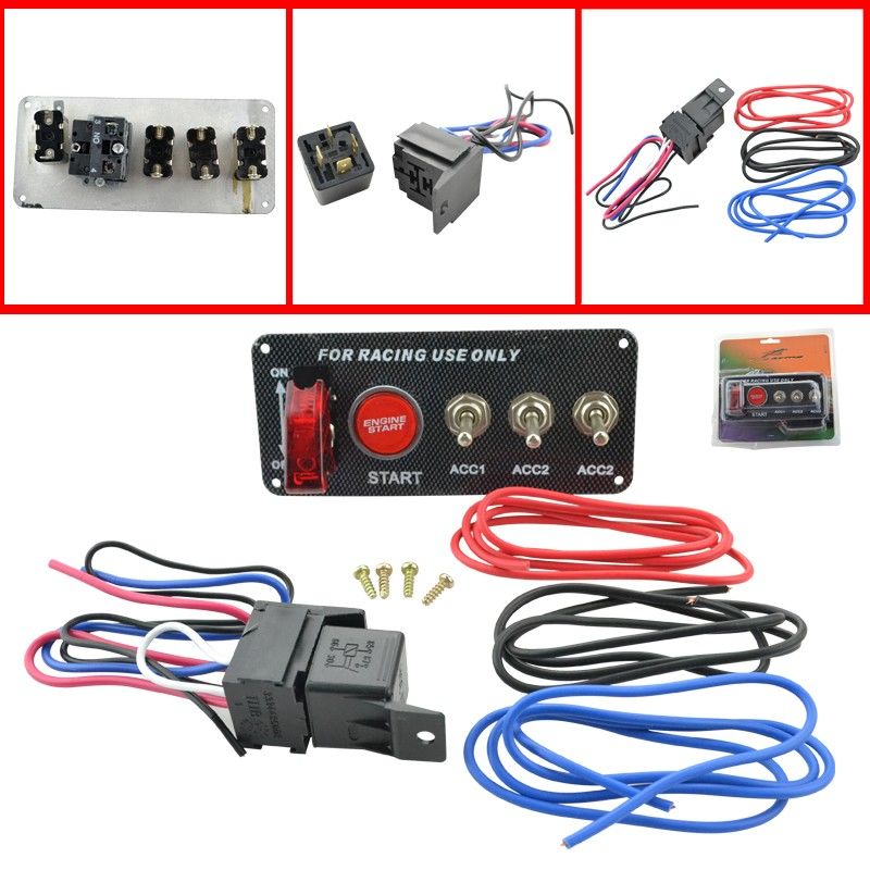 Dc 12v Racing Car Engine Start Push Button Toggle Ignition Switch Panel: Race Car Switch Panel Wiring At Shintaries.co