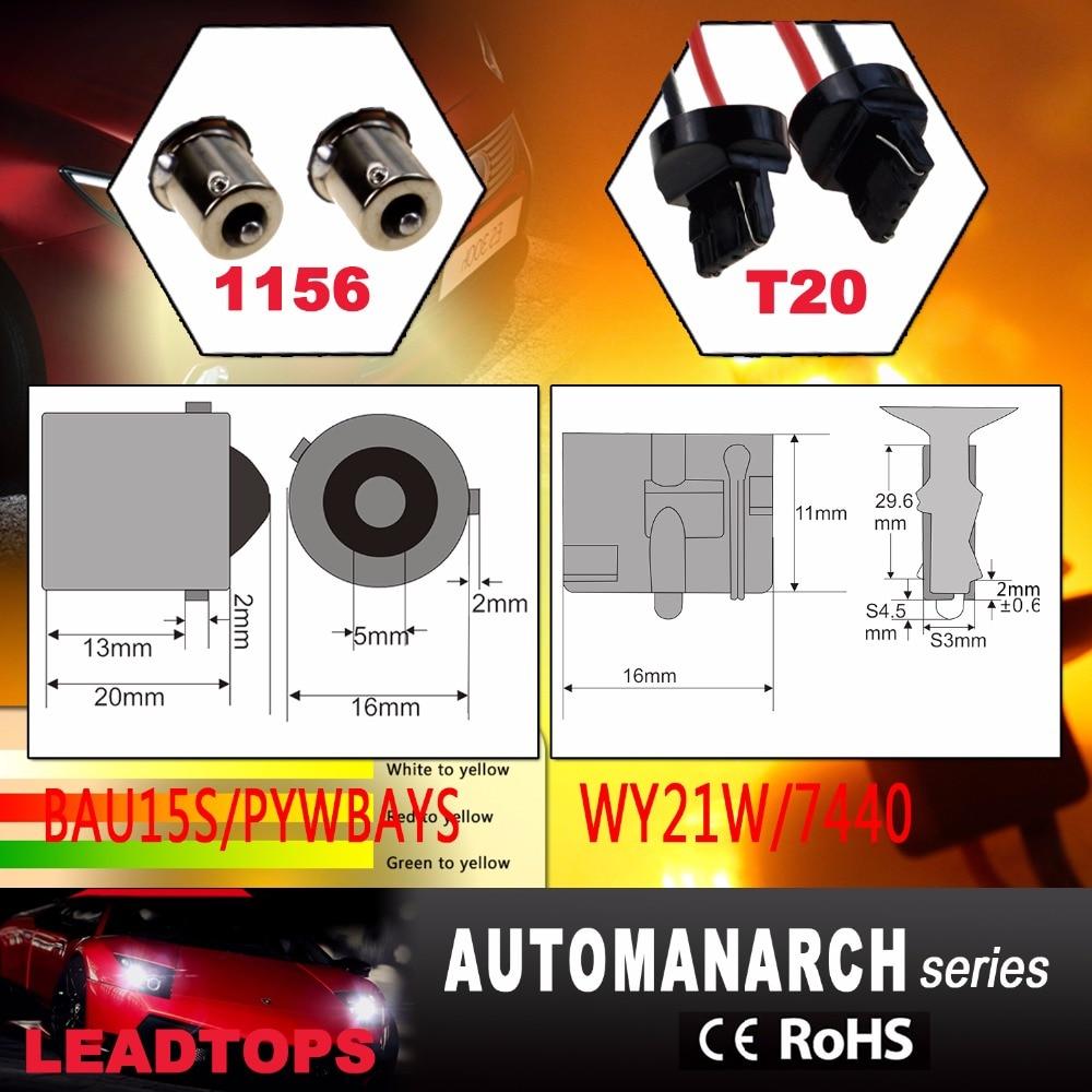 LEADTOPS T20 Led 42 Cahaya Daya Tinggi Daytime Running Light + Turn - Lampu mobil - Foto 3