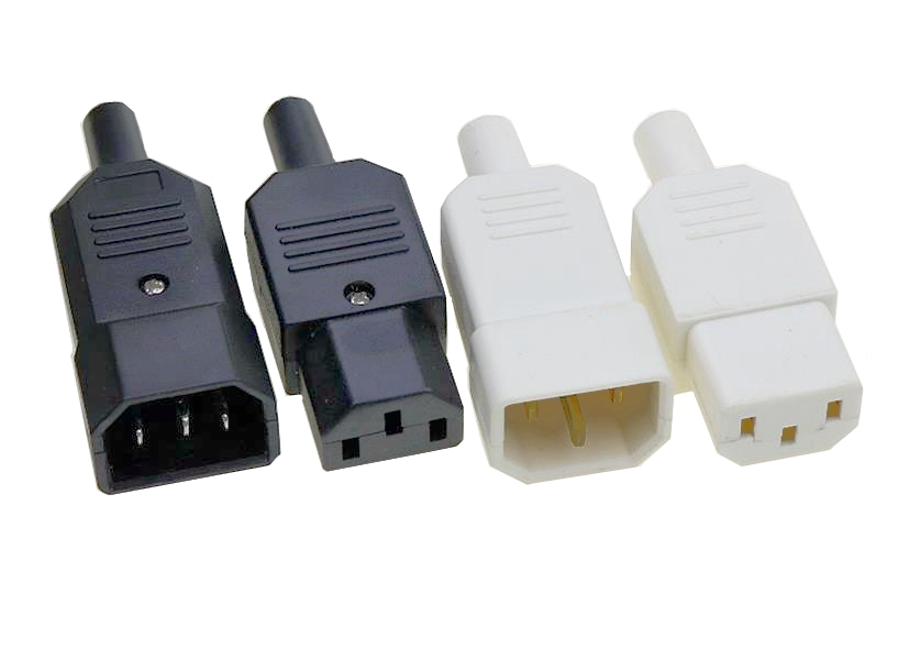 IEC Straight Cable Plug Connector Rewireable C13 C14