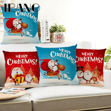 Sweet Santa Claus Cushion Cover 45x45cm Pillow Cases Merry Christmas Gift Bedroom Sofa Decorations For Home
