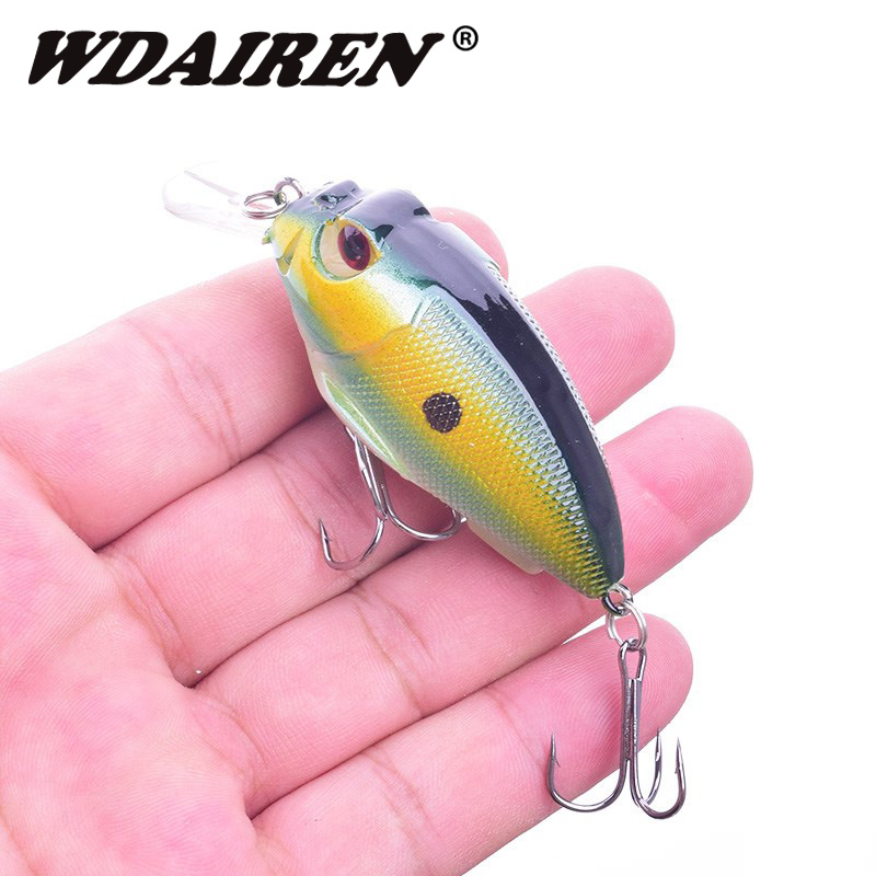 WDAIREN Crank Minnow Fishing Lure 70mm 10g Aritificial Wobblers Crankbait 8 Colors Hard Bait Plastic Baits Pesca Isca WD-321