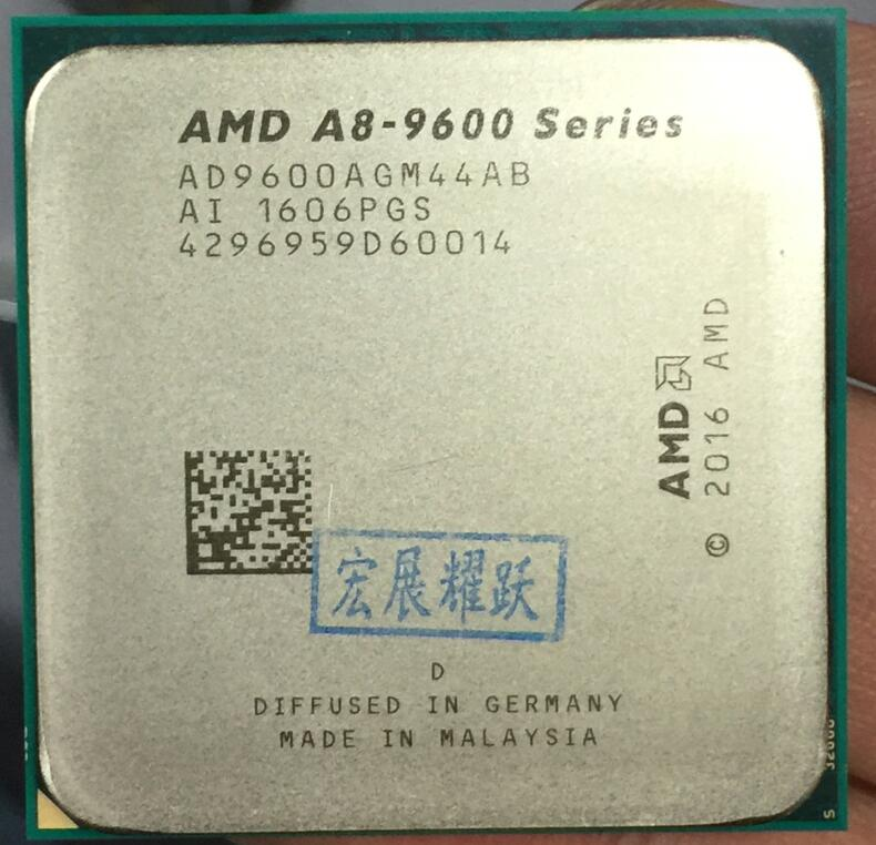 AMD A8-Series A8-9600 - AD9600AGM44AB  A8 9600 APU Quad-Core CPU  100% working properly Desktop Processor