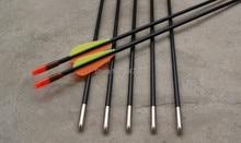 Free shipping ELONG fiberglass arrow shaft length 26″ OD6mm target practice youth arrow for shooting archery bow outdoor sport