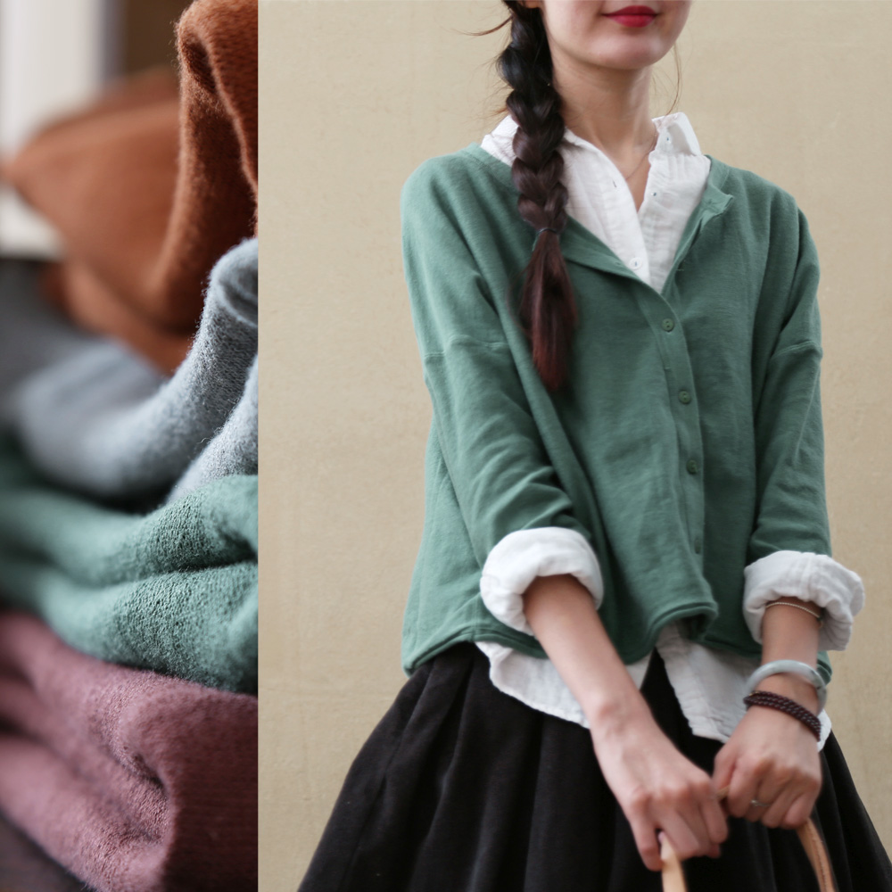 The fall of 2015 to launch new products, the design of high quality knitting cotton woman loose big yards sweater