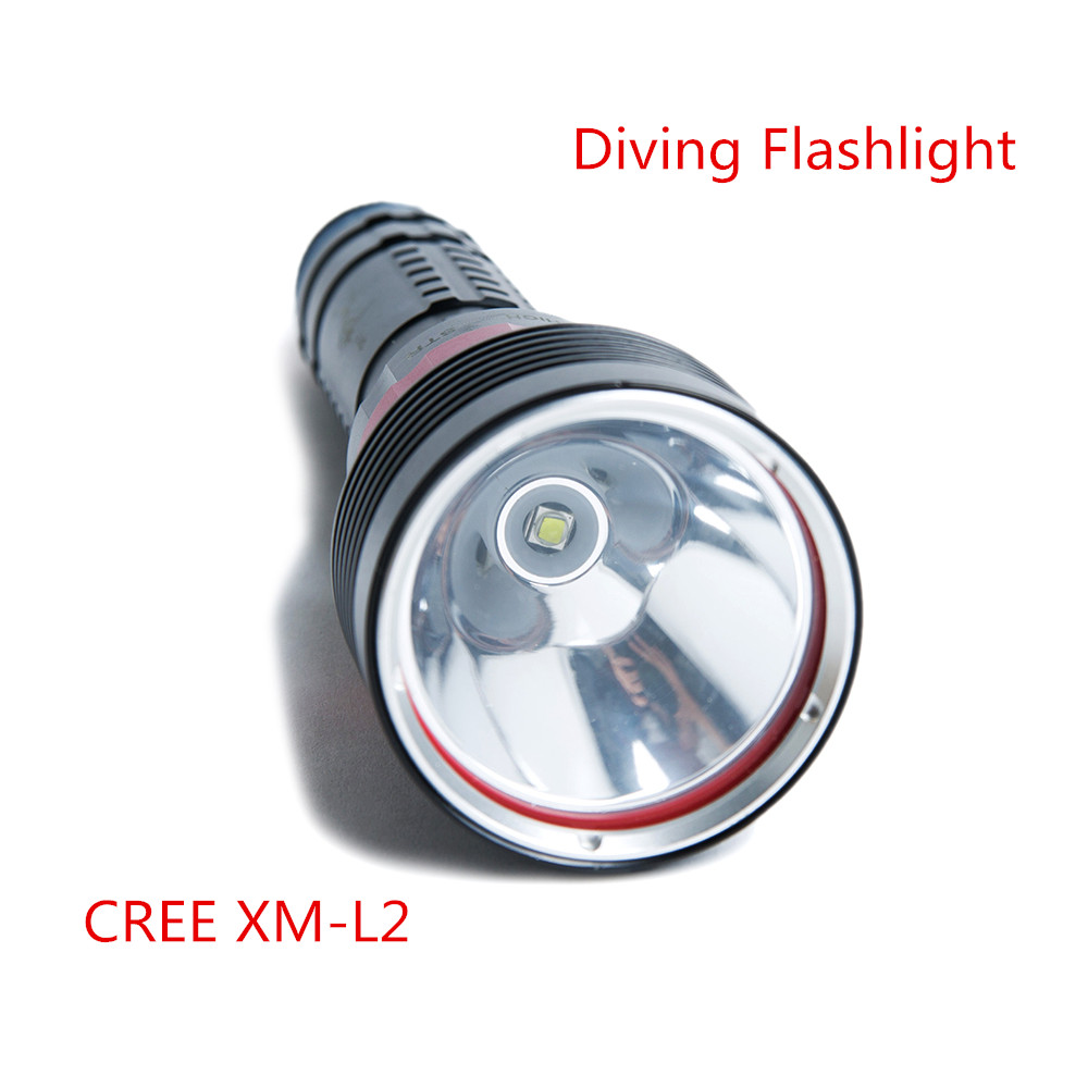 ФОТО SecurityIng Waterproof 2000 Lumens XM-L2 LED Diving Flashlight UnderWater Bright LED Lighting Lamp Dive Lights Torch for Diving