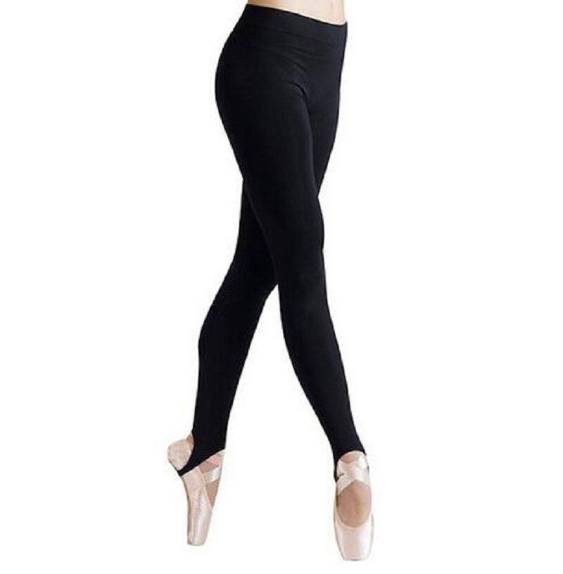 ICOSTUMES New Women Skinny Stirrup Mid Wasit  Legging Black Ballet Dance Pants