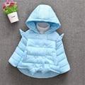 2016 конфеты цвета девочка одежда горячие продажа новорожденный прекрасный крыла форме зима теплая верхняя одежда 2 цвета